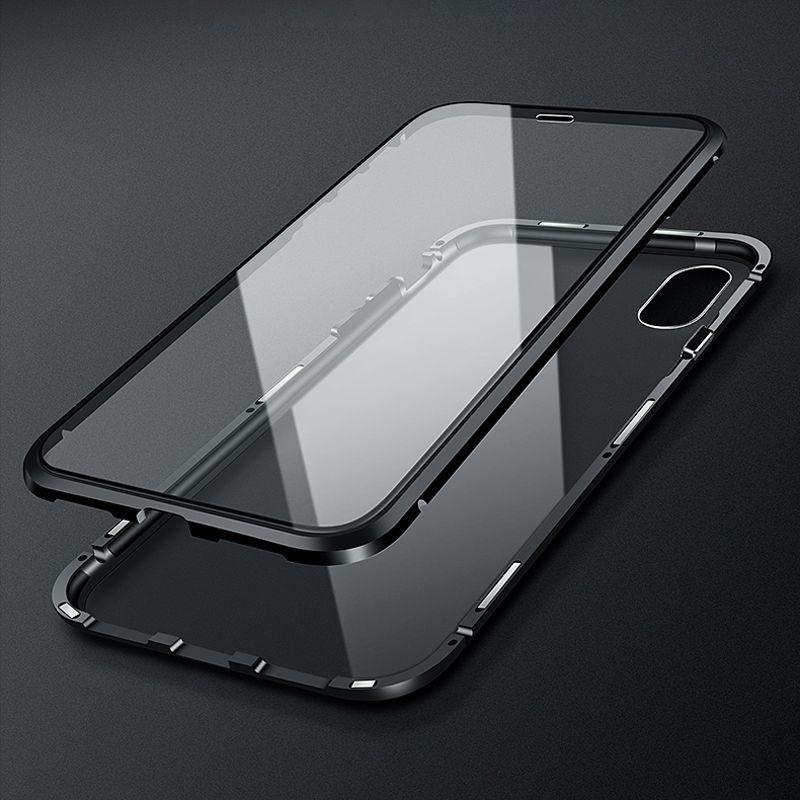 Luxury 360 Full Body Защитный магнитный Прозрачная крышка для iPhone XS Max X 8 7 8Plus iPhone-7-8-X Обложка Дело стекла Броня