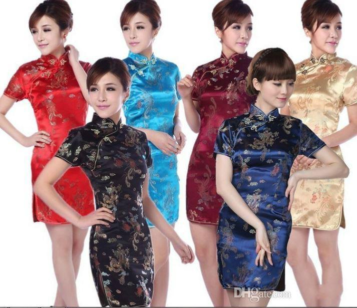 Shanghai Hikaye Için Ucuz Geleneksel Elbise Vintage Qipao Kadın Cheongsam Çin Tarzı Elbise Oryantal Tarzı Elbise Chi Pao
