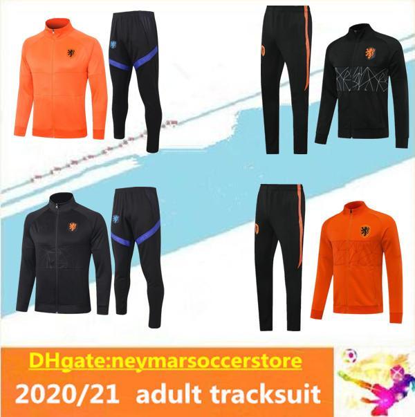 2020 2021 Niederländischer Fußball-Trainingsjacke 2020/21 Holland survêtement DE JONG DE LIGT VIRGIL maillot de Fußballtrainingsanzug