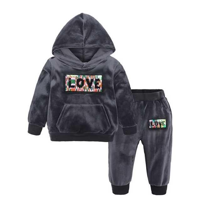 Bebek Erkek Kız Eşofmanlar Set Çocuk Hoodies Tulum Uzun Kollu Giysi