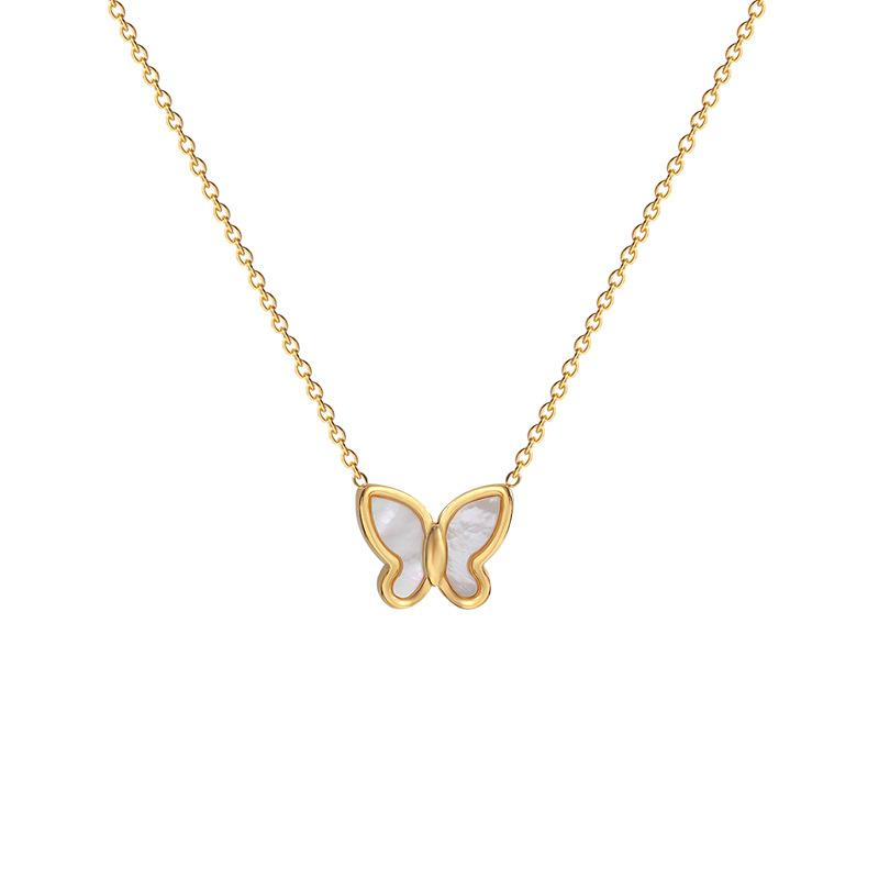 Fashion Fritillaria Butterfly Necklace exquisite simple chain ladies jewelry accessories suitable for a variety of occasions free shippings