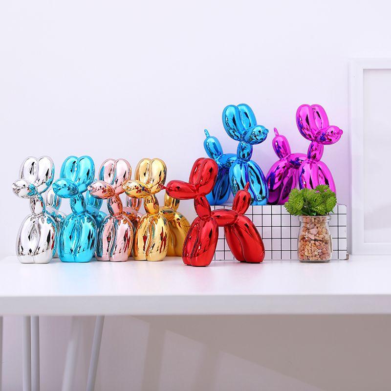 Modern balloon dogs sculptures household adornment art Resin Craft Sculpture Art for Statue Home Decoration T200330