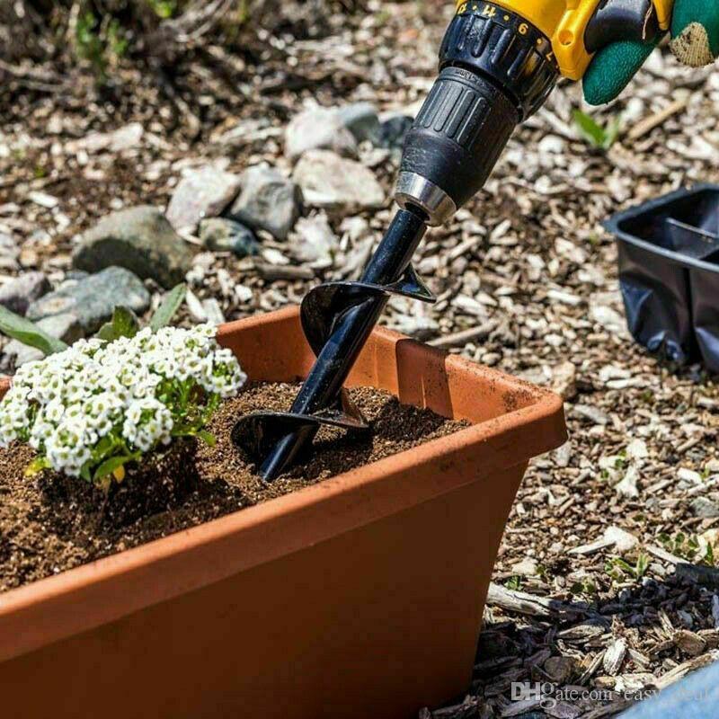 الصلب لولبية أداة اليد مثقاب حديقة مصغرة أوجيه متعدد الوظائف هول الحفار تزرع التربة زراعة سياج الرئيسية الحفار يارد yq00998