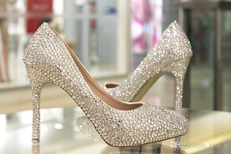 Rhinestone Wedding Shoes Woman High Heel Pumps Women Shoes High Heels 2019 Ladies Pumps Shoes Womens Your Wedding Shop Bellissima Bridal Shoes From