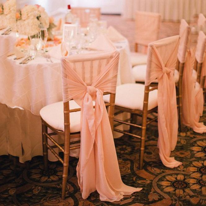 2020 Hot Sale New Chiffon Chair Sash Simple Chair Covers For Weddding Custom Made High Quality Factory Sale Wedding Suppliers Accessories