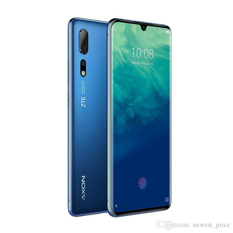 """ZTE original Axon 10 cellulaire Pro 4G LTE téléphone 12Go RAM 256Go ROM Snapdragon 855 Octa base 6,47"""" Plein écran 48MP ID d'empreintes digitales Téléphone mobile"""