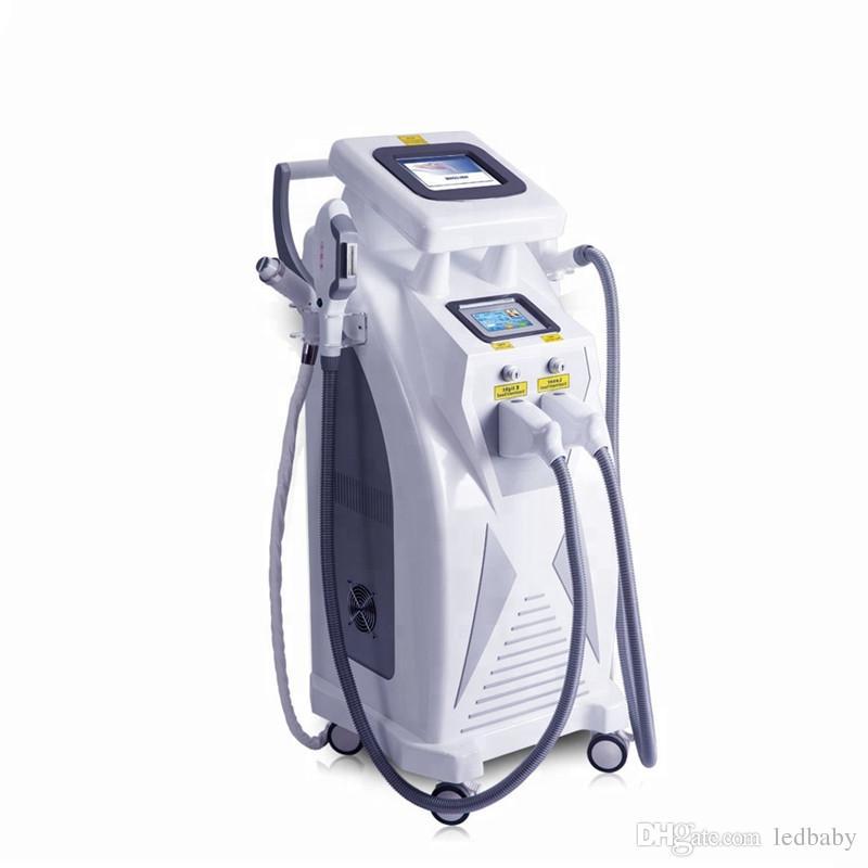 Multifunktions-OPT Elight SHR IPL Haarentfernung Q-Schalter Nd Yag Laser Tattoo Entfernung RF Hautverjüngungsmaschine