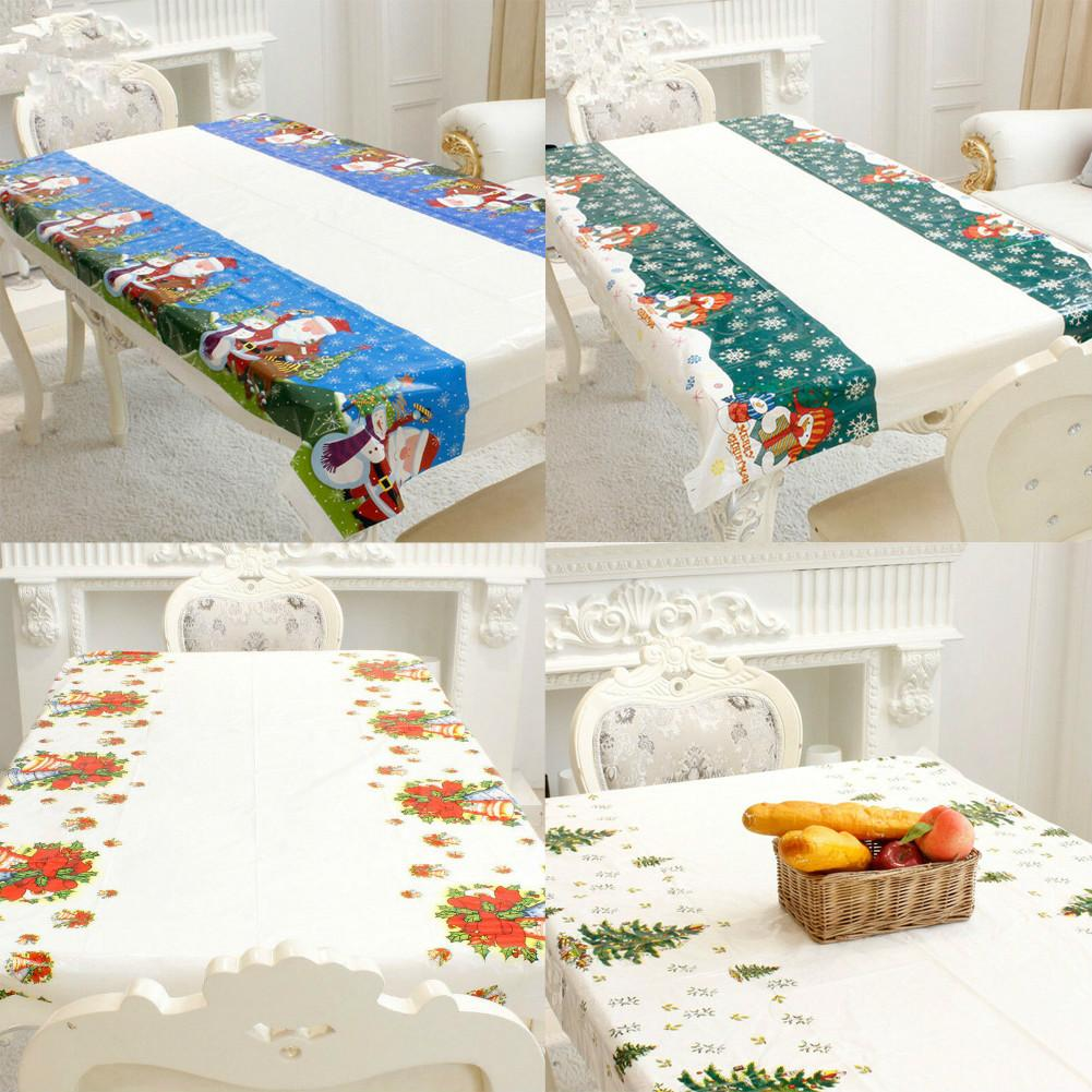 Modern Simple Cotton Linen Grid Tablecloth Cover Cloth Table Deco Print#S