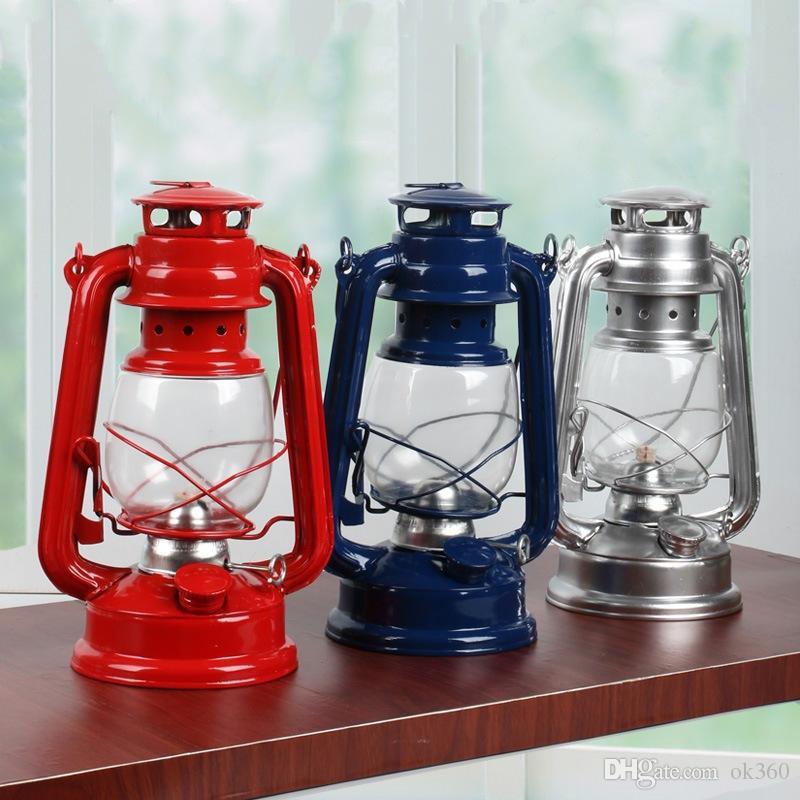 Retro Classic Cherosene lampada a cherosene lanterne Wick portatile luci esterne tenda da campeggio luce di emergenza della lampada della decorazione della casa
