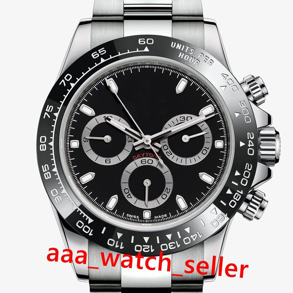 2020 caldo di vendita di alta qualità montre de luxe 116500 116520 116595 quadrante nero lunetta in ceramica movimento automatico SS316L master uomini orologi da polso