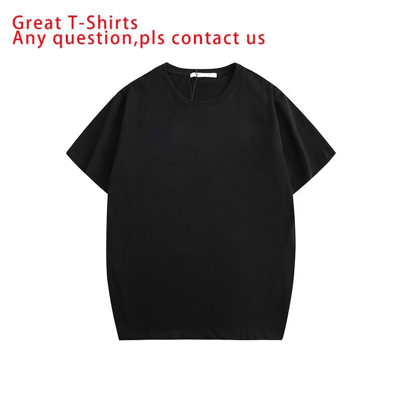الرجال تي شيرت أزياء الرجال قصيرة الأكمام الرقبة الطاقم قميص الصيف عارضة تنفس قمم المحملة مع رسالة التطريز 2 الألوان الحجم S-2XL