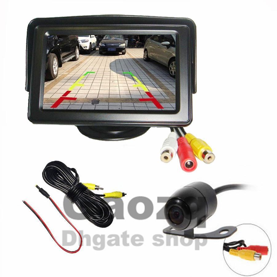 """4,3 """"TFT LCD MONITOR + мини-реверсивная камера заднего вида для заднего вида"""