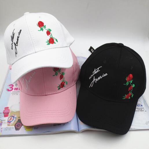 7002b39b4237a MAERSHEI New Rose Baseball Caps Women Snapback Cap Flower Summer Embroidery  Curved Spring Snapback Caps Men