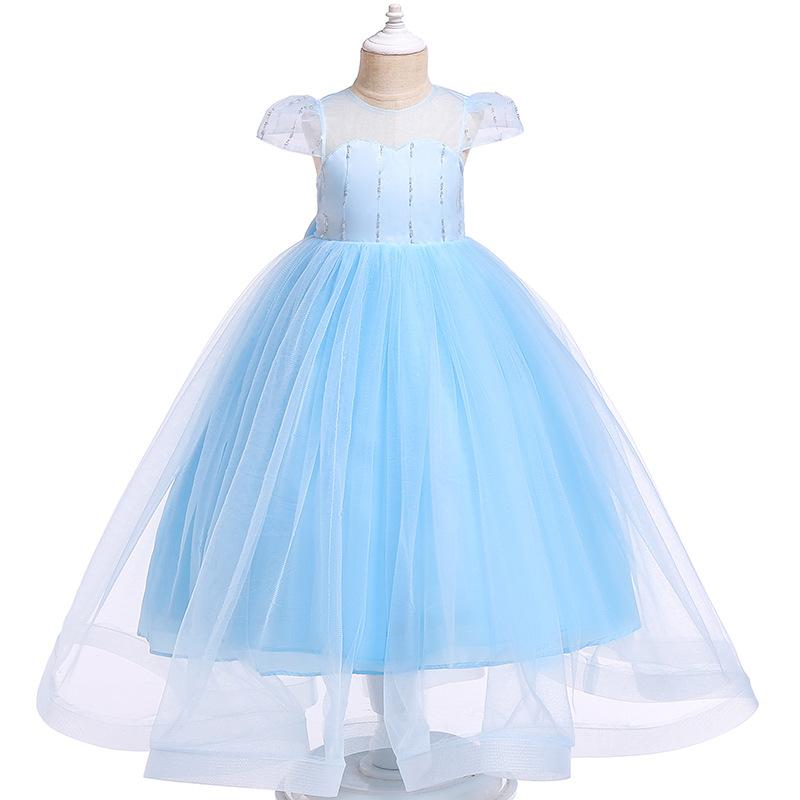 Princess party wedding dress children skirt kids girls dresses bowknot network veil of the new Europe and the United States the spring 2020