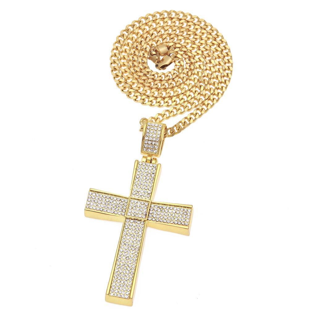 2019 جديد أزياء الرجال جودة عالية كامل الماس كبير عبر المجوهرات الهيب هوب قلادة dj شارع الرقص غرامة المجوهرات