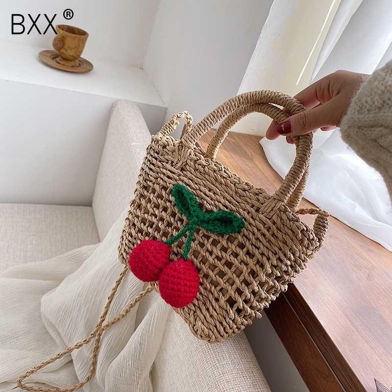 [BXX] Kadınlar İçin Straw Kepçe Çanta 2020 Yaz Crossbody Çanta Lady Seyahat Çantalar ve Çanta Kadın Omuz Çantası HL417