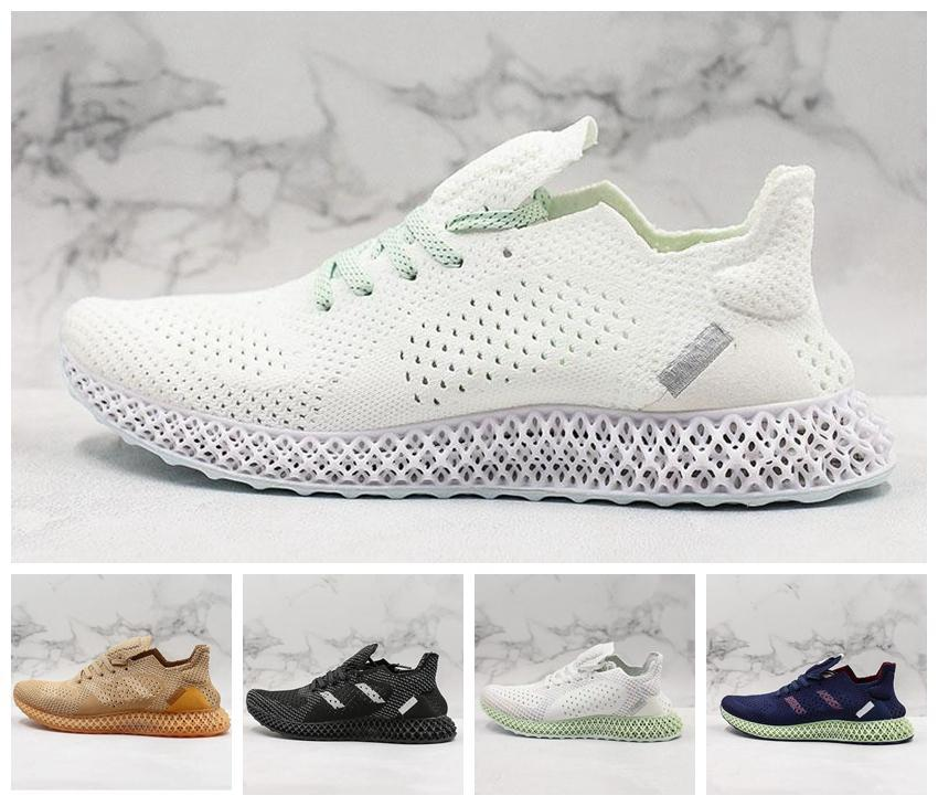 New Futurecraft 4D Men Black White Athletic Shoes Fashion Designer Ash Grey Onix Aero Running Sports Sneakers Trainer Shoes 40-45