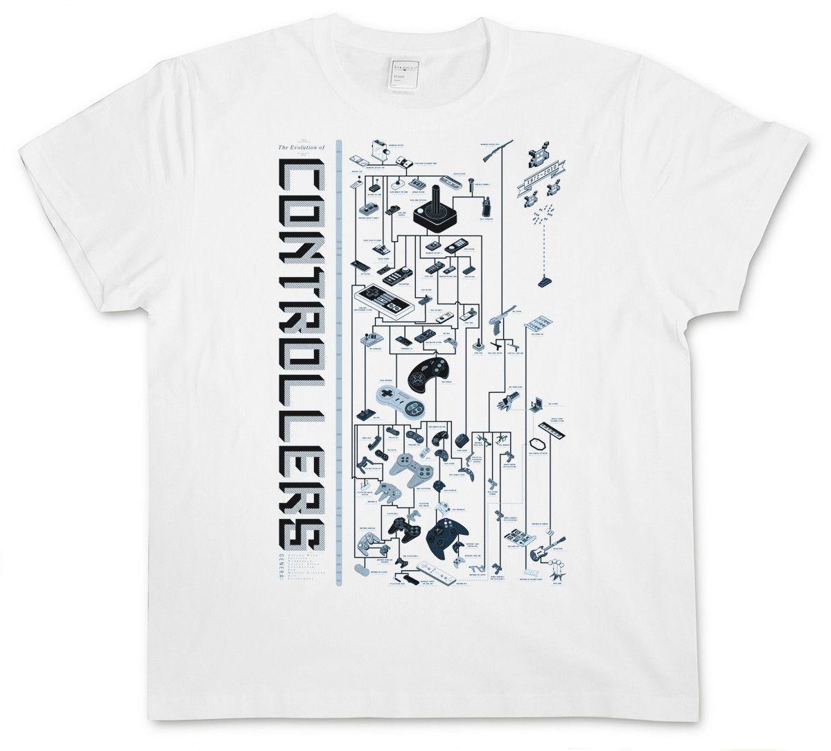 Controller Evolution T-Shirt Videospiel Konsole Nes Joystick Gamepad Pc Nerd