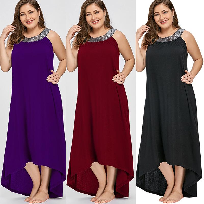 Plus Size Dresses Woman Fat Womens Maxi Dress Explosion Style Swing Long Sleeves Skirt Clothing Ladies Sundress Online Dress 1 From Baiyipavilioncloth 23 07 Dhgate Com