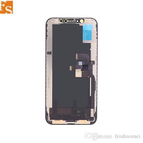 شاشة LCD لفون X XS XSMAX XR شاشة LCD مع 3D شاشة اللمس محول الأرقام OLED TFT التجميع الكامل استبدال LCD 100٪ اختبار جيد