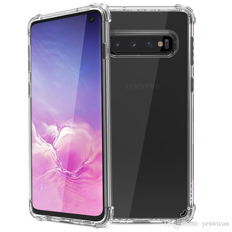 iPaky Case For Samsung Galaxy S10+ Plus S10E Transparent S10 Back Cover High Clear PC+TPU Drop-proof Hard Soft Cases With Package Stock