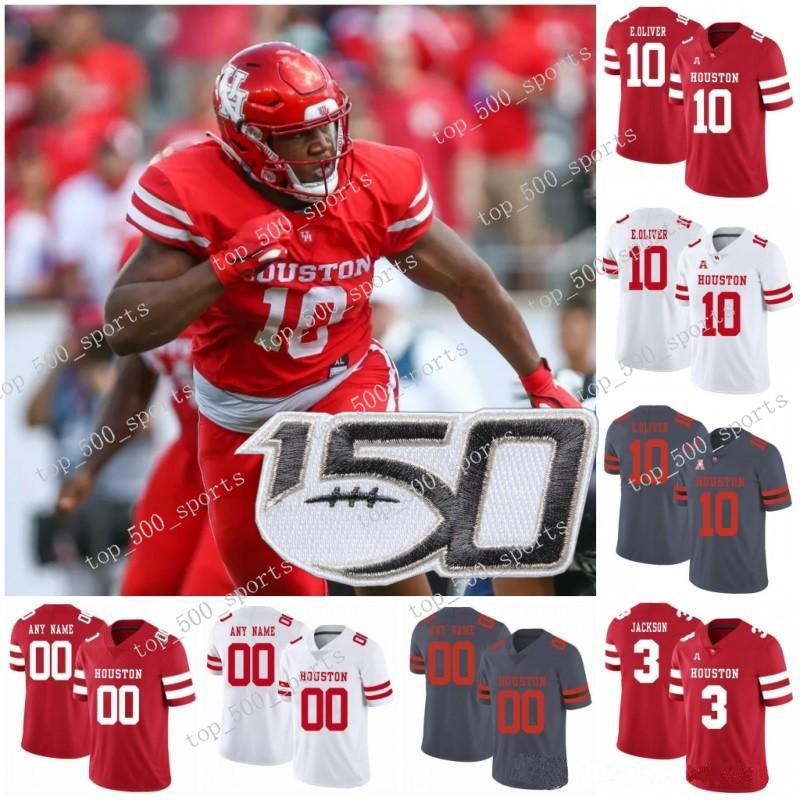 2021 Custom Houston Cougars College Football Stitched Any Number ...