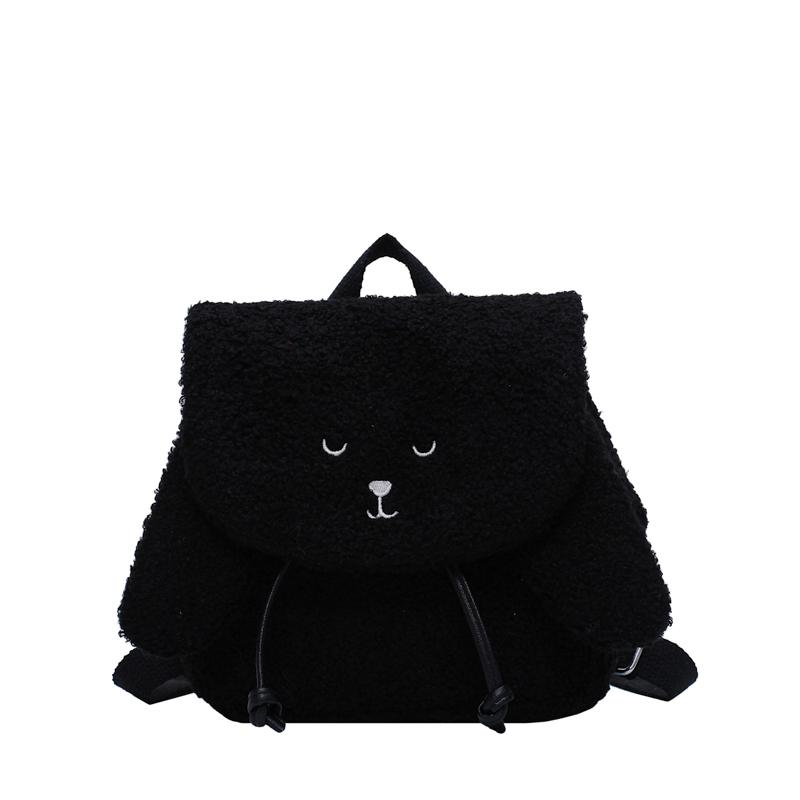 Malas de Viagem bonito Velvet Pouch 2020 de Moda de Nova Mochila estilo ocidental Backpack Ladies Girls School Saco listrado Mochila