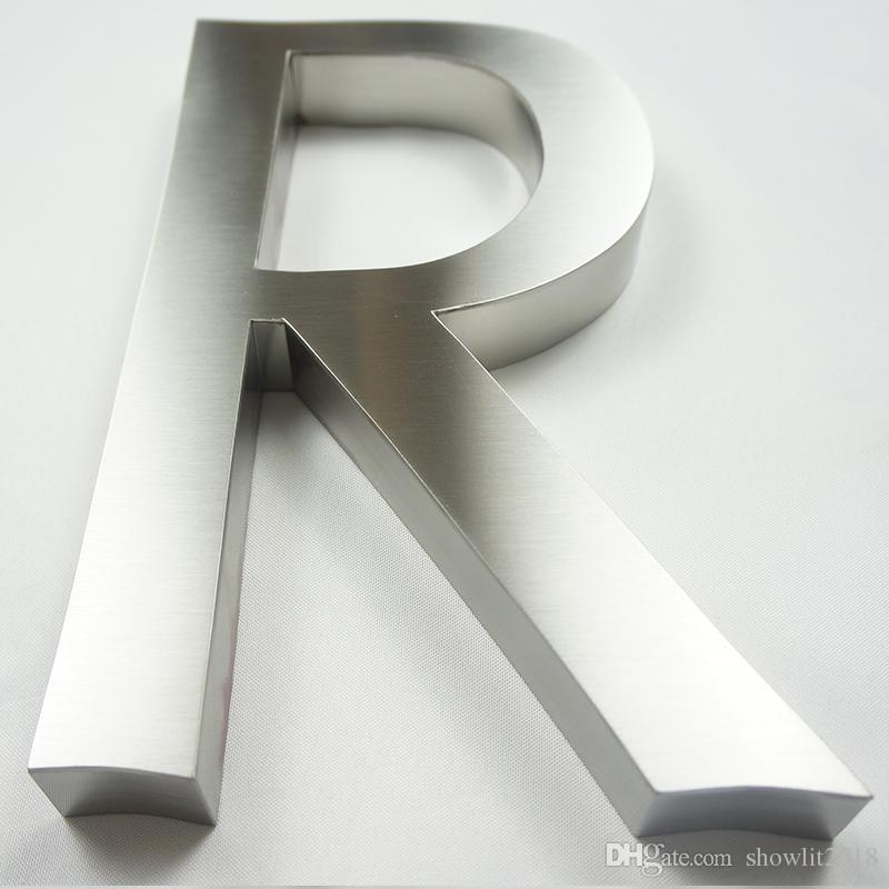 Metal Letra S/ /Acero inoxidable cepillado con 3/M Your Design/ /4/cm de altura