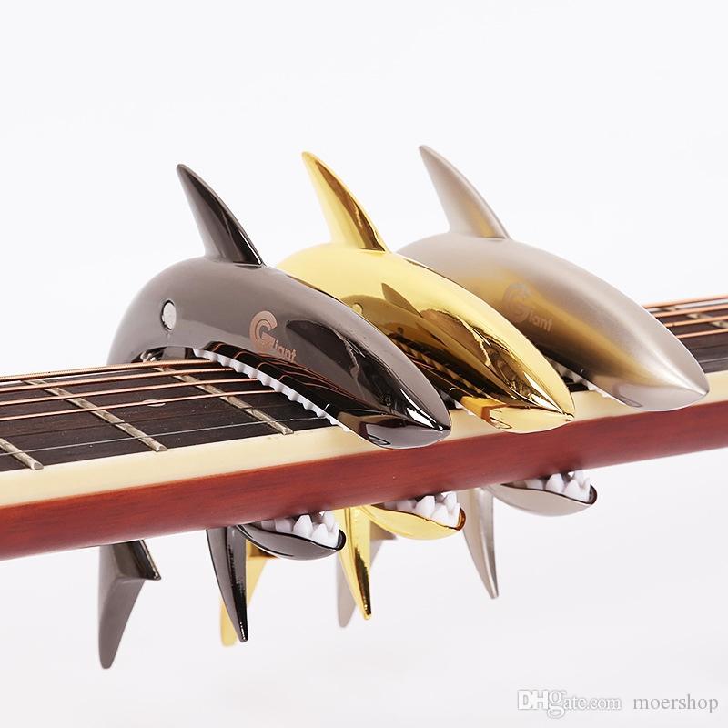Guitarra Elétrica Guitarra Tubarão Capo para Acústico Guitarra clássica Elétrica Liga de Zinco Instrumento Musical Acessórios para Guitarra