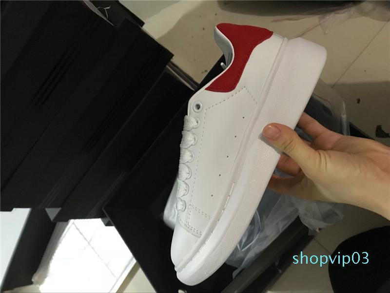 Alta Qualidade Mulheres Homens Moda Primavera sapatos de senhora Casual Confortável Walking Sneakers Couro respirável Lace Up Platform Shoes c20