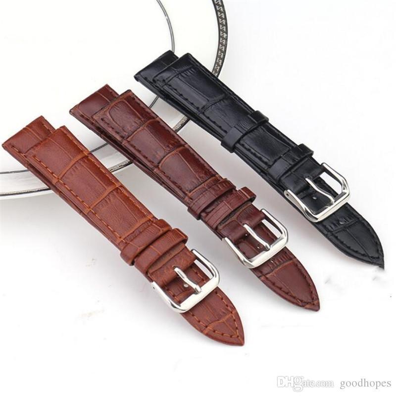 Moda couro genuíno Assista Bandas Correia elegante substituição pulseira relógio pulseira de banda para as Mulheres Homens com fivela