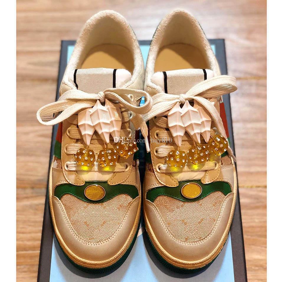 Dernières chaussures mode femme Screener chaussures avec des cerises chaussures de marque de luxe de qualité supérieure taille 35-40 modèle HY04