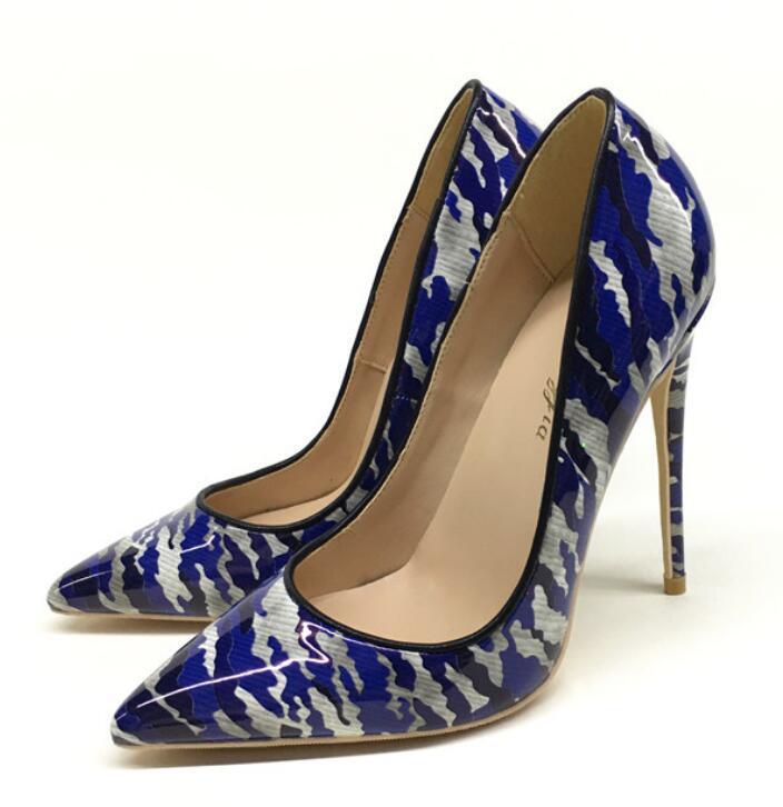 2020 sonbahar yeni fonun Ayakkabı rengi grafiti sosyetik yüksek topuklu sığ ince ağız tek ayakkabı banquet11 ile sivri 12 cm kışlar