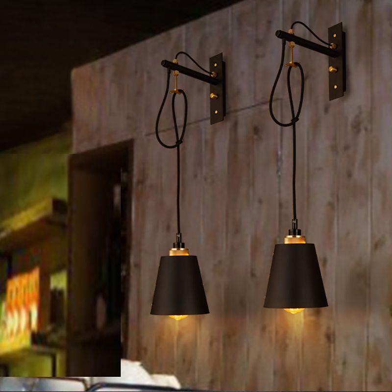 خمر الحديد LED مصابيح الجدار الشمعدانات الصناعية نوم السرير بار مطعم كافيه لوفت ديكور ممر الجدار الخفيفة ضوء الثابت