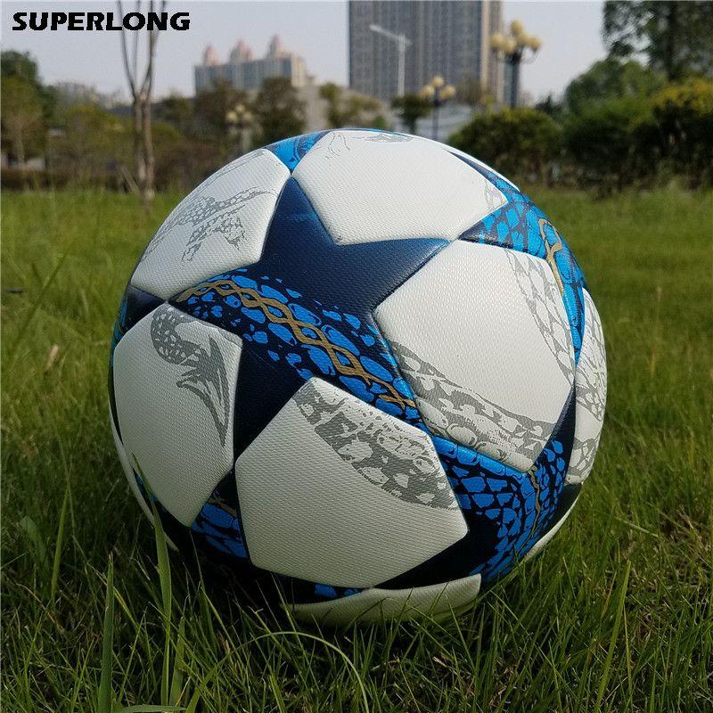 2018 جودة عالية بطل الدوري حجم 5 كرة القدم الكرة سلس بو معدات تدريب كرة القدم كرة القدم balones دي فوتبول