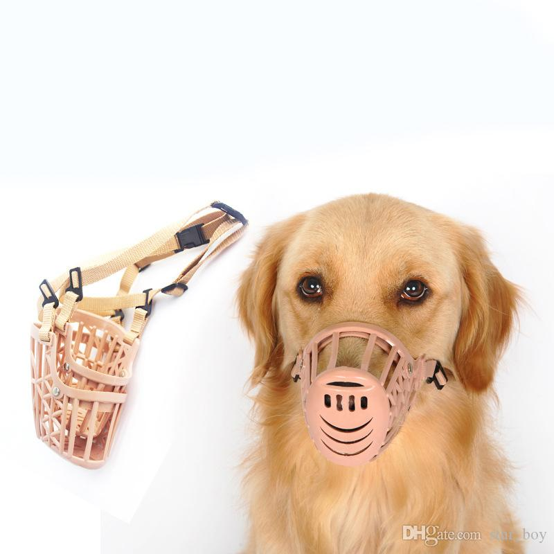 Adjusting Pet Dog Muzzle New 1Pcs 7 Sizes Plastic Strong Dogs Muzzle Basket Design Anti-biting Dog Mouth Mask Mouth Cover For Dogs Cats