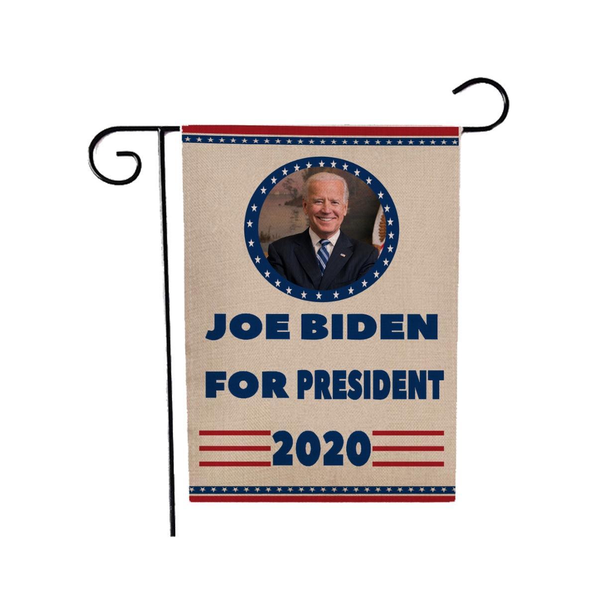 10 1Pcs 2020 Banderas Donald BidenBiden presidente de la bandera Pequeño Elección de mano Biden palo de la bandera Keep America grande para la decoración del hogar # 587