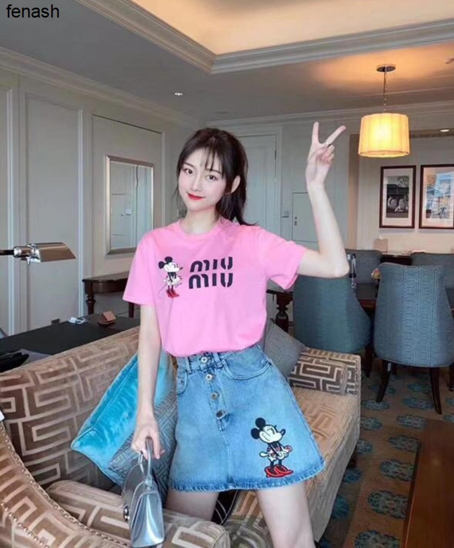 2020 haute glamour d'été Lettre Imprimer à la Mode À Manches Courtes T-shirt Femme Vêtements 040501