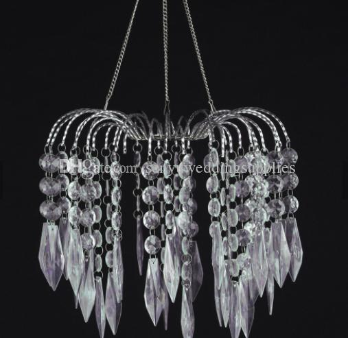 no light including )20cm to 120cm long )cheap colored acrylic lampshade hotel chandelier for wedding hall decoration senyu0291