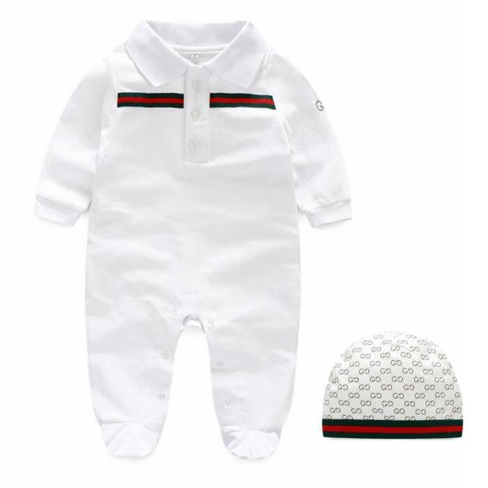 Venta caliente del mameluco del otoño del resorte de manga larga bebé niño niña mameluco infantil mono cálido algodón niños ropa