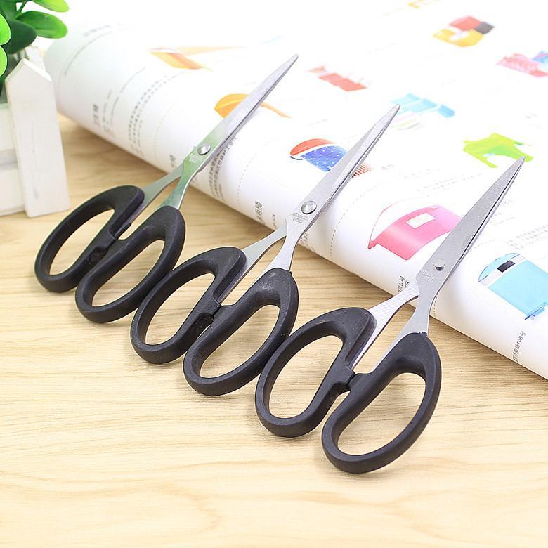 Ciseaux en mûre moyenne 13.5cm Étudiants noirs Coupeurs de papier en gros