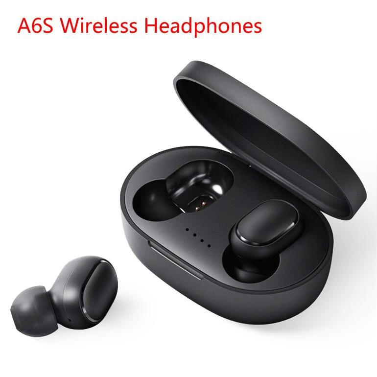 Wireless Earphone For Xiaomi Cell Phone Double Earbuds Bluetooth 5.0 TWS Headsets Noise Cancelling Mic for iPhone Huawei Samsung A6S