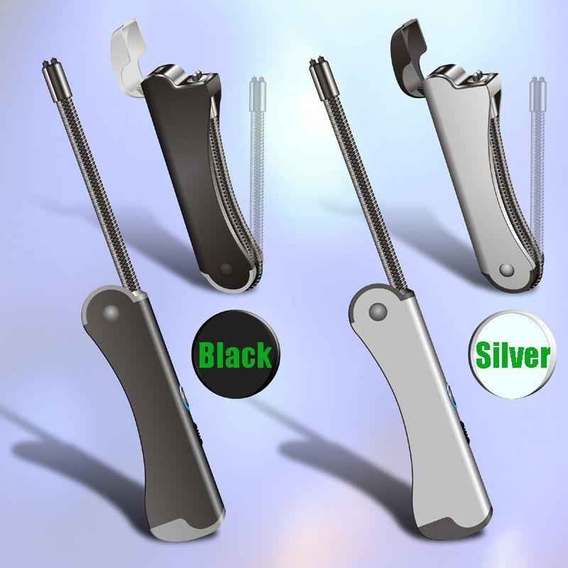 Двойной дуговой воспламенитель прикуриватель шланг складной USB зарядка личности металлический электронный прикуриватель изготовленный на заказ логотип для кухни