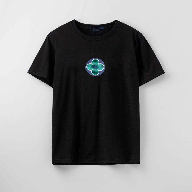 Новое лето Мужская футболка Модельер Printed мужчин и женщин футболки Пара тройники Марка Повседневный Streetwear тенниска Азиатский размер S-2XL