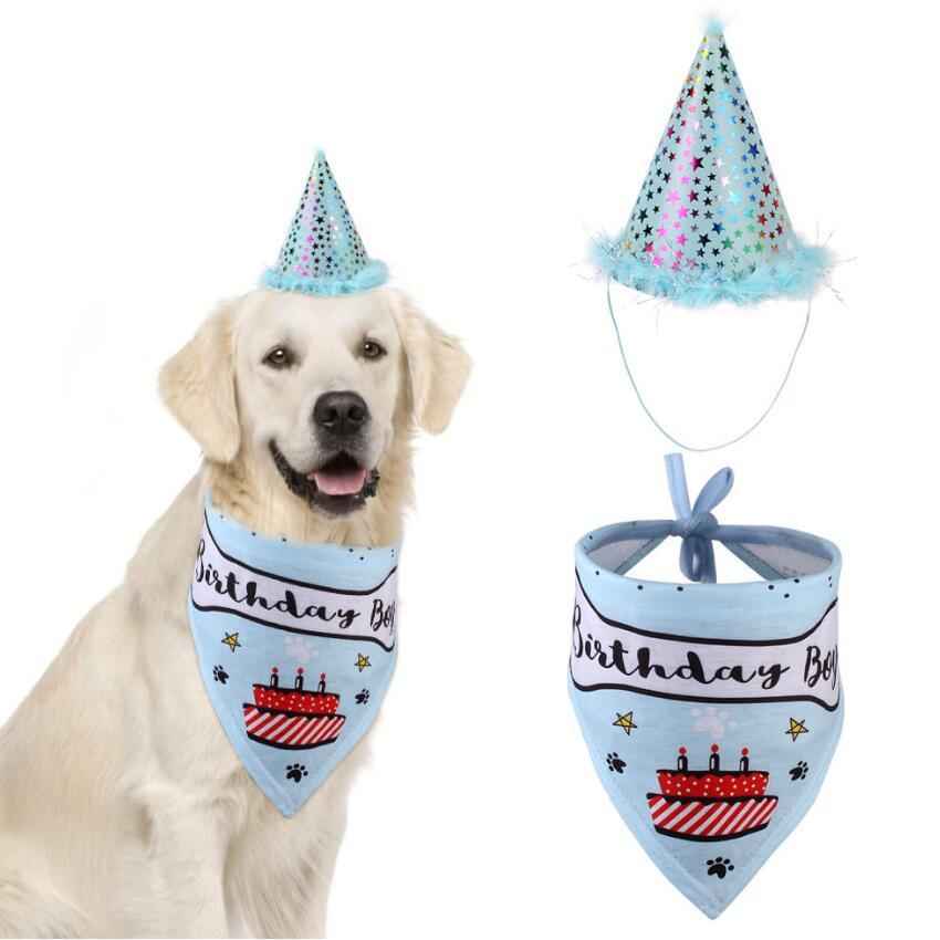 Dog Christmas Bandanas 2021 2021 Party Pet Dogs Caps Cat Dog Bibs Birthday Costume Design Head Wear Hat Christmas Bandana Hat Scarf Pets Accessories Supplies From Margueriter 16 45 Dhgate Com