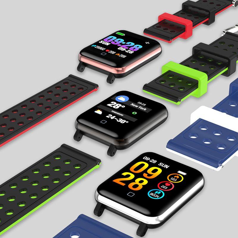 M19 Smart Armband Fitness Tracker Blut Sauerstoff Blutdruck Pulsmesser Smart Watch Wasserdichte Armbanduhr Für iPhone iOS Android
