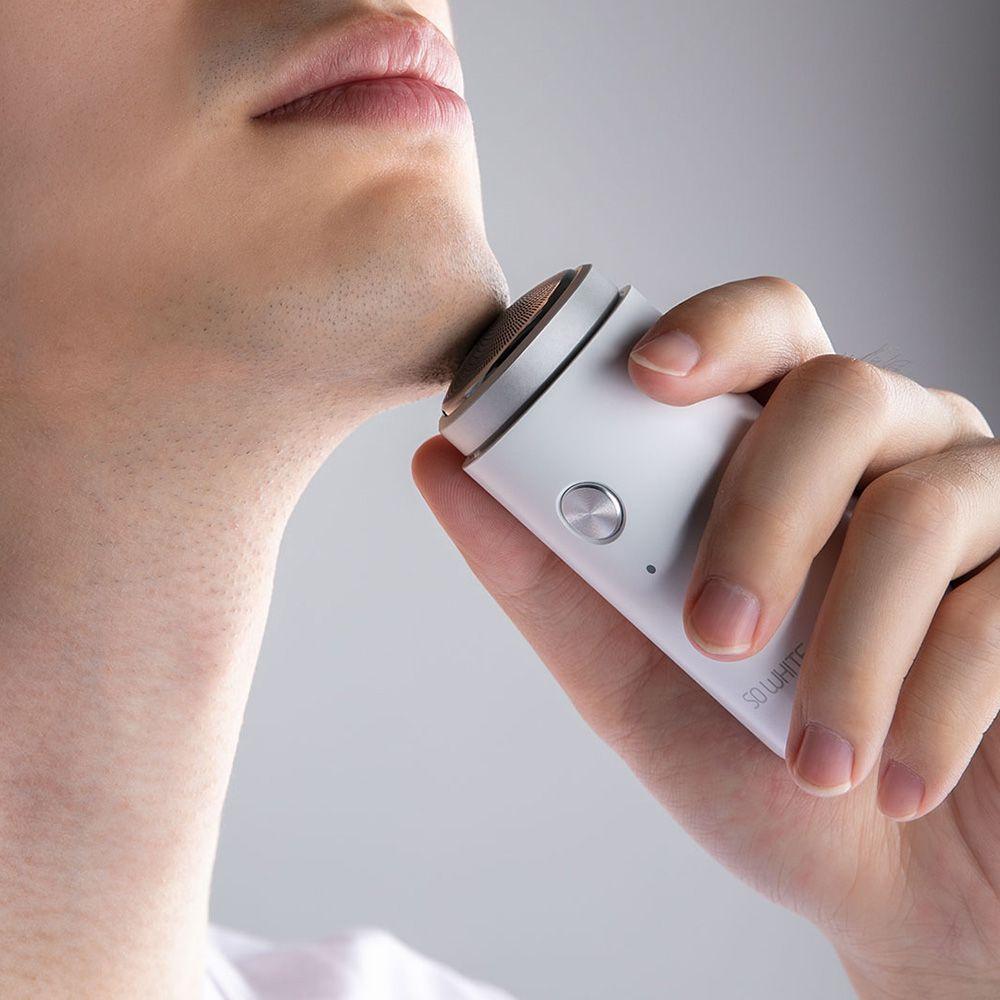 SO WHITE ED1 Mini Electric Shaver For Men Portable Razors Dry Wet Shaving Washable Beard Trimmer Comfy