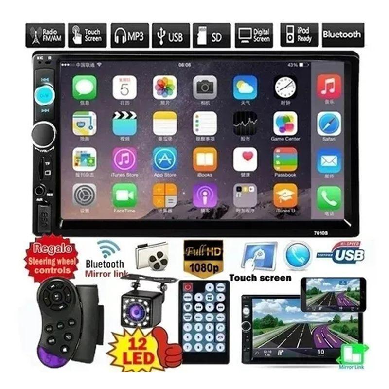 "2 Din 7"" USB estéreo del coche de HD DVD Reproductor Multimedia Android MirrorLink Autoradio 7010B radio de coche Bluetooth FM AUX TF Auto Audio"