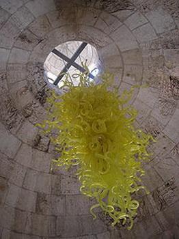 Artista personalizado Blown luzes de teto de vidro Lustre Yellow Big AC110V-220V Murano vidro com LED luz da bolha