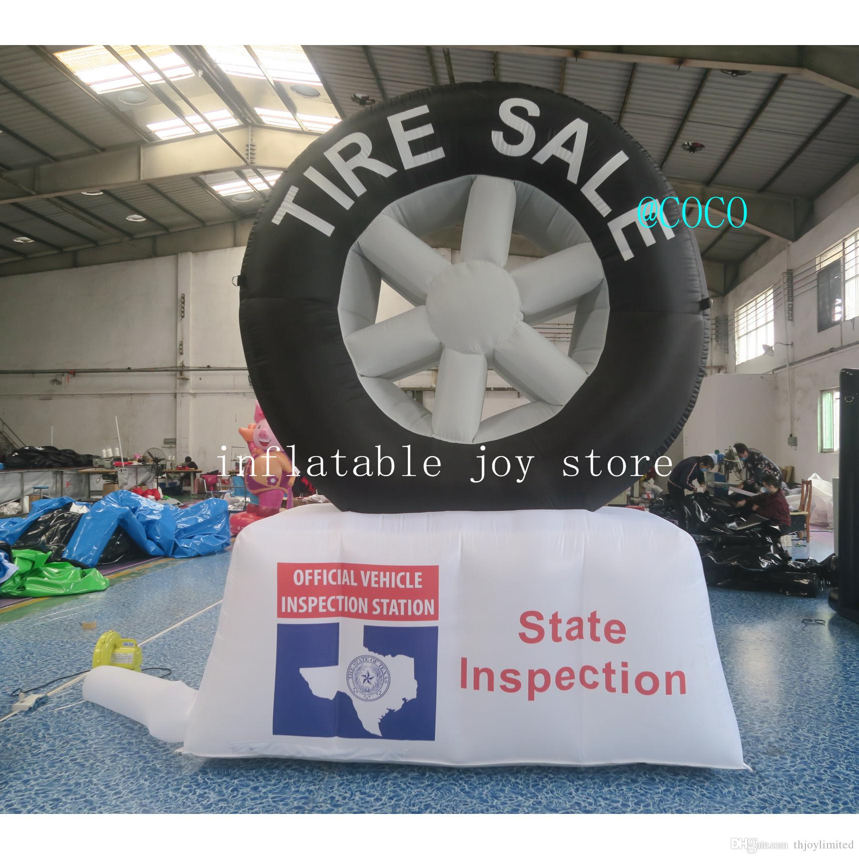 30m-10ft high inflatable tyre model for tyre advertising / inflatable tire model for outdoor advertising